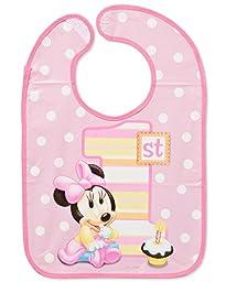 Minnie\'s 1st Birthday Baby Bib