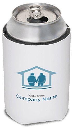 Vistaprint Light Blue Retirement Community Koozies front-844561