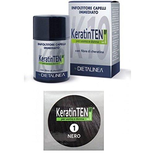 """KeratinTEN"""" Infoltitore Capelli Immediato Colore Nero 12g"""
