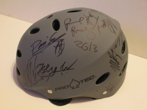 x-games-autographed-signed-brand-new-silver-bucky-lasek-model-pro-tec-logo-skateboard-helmet-featuri