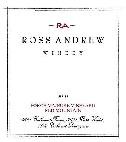 2010 Ross Andrew Force Majeure Vineyard Red Wine, Columbia Valley 750Ml