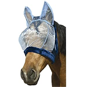 Intrepid International Charlie Bug-Off Shield Fly Mask with Ears, Large Horse