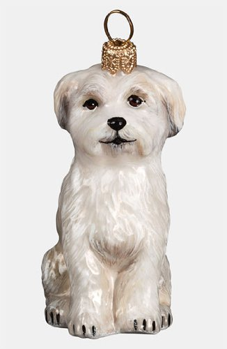 Maltese Puppy Ornament