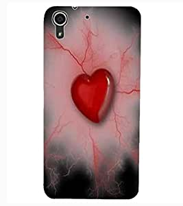 ColourCraft Lovely Heart Image Design Back Case Cover for HTC DESIRE 626