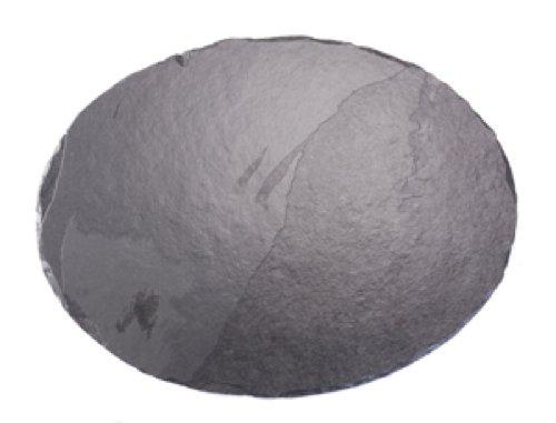 Platos individuales Slate 45 x 35 cm fuente ovalada/tabla de cortar queso, negro