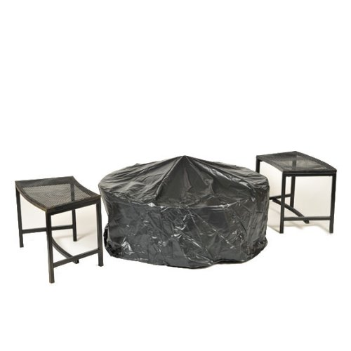 CobraCo-Steel-Mesh-Rim-Fire-Pit-and-Two-Bench-Set-with-Screen-and-Cover-FB6400-750