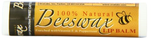 Essential Natural Bees Wax Lip Balm Stick, 12-Count