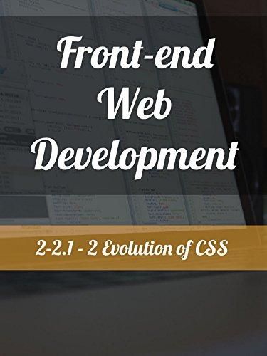 2-2.1 - 2. Evolution of CSS