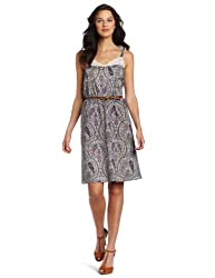 Only Hearts Women's Thistle Paisley Camisole Sundress With Belt, Paisley, X-Small