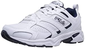 Fila Men's Capture Running Shoe,White/Peacoat/Metallic Silver,12 M US