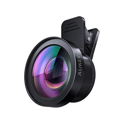 AUKEY スマホ カメラレンズキット 2in1 (10×マクロ、125°0.45×広角レンズ) セルカレンズ クリップ式 iPhone、Samsung、Sony、Android スマートフォン、タプレットなどに対応 PL-WD06