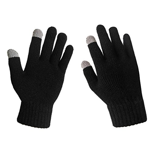 lethmik-mens-solid-magic-knit-gloves-winter-wool-lined-with-touchscreen-fingers-black