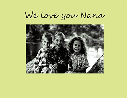 Havoc Gifts 9012-SO We Love You Nana Photo Frame, Small, Oyster - 1