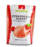 Strawberry Fruit Powder Sorbet - Vegan Natural And Organic Foods - Gluten Free Dairy Free GMO Free - Made With Unprocessed Raw Foods - Rich in Nutrition - Ready Blend - 2.53 Oz (72g) by BlendItUp