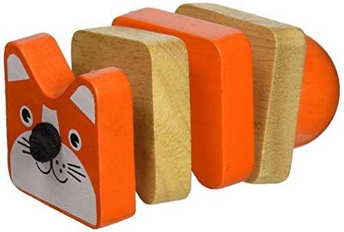 Manhattan Toy Click-Clack Cat Wooden Clutching Toy - 1