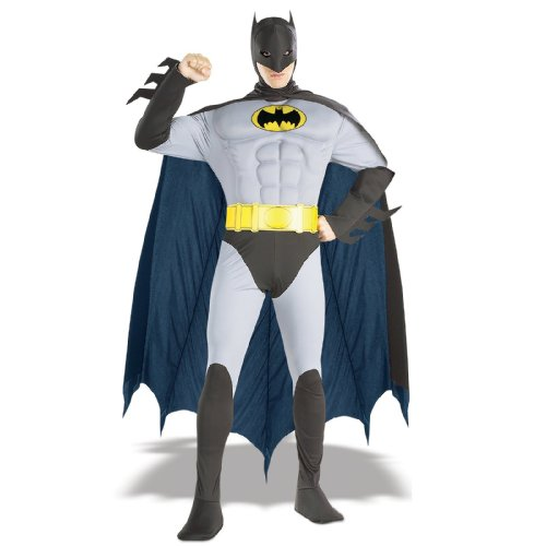 Rubie's Costume Dc Comics Adult Deluxe Muscle Chest The Batman - S, M or L