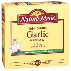 Nature Made Odor Control Garlic 1,250 mg Garlic Equivalent – 300 Tablets On Sale