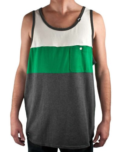 LRG Field Of View Tank Top Vest in Dark Charcoal Heather, Size Large (L)