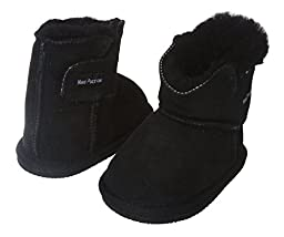 NINO Infants\' Genuine Suede Shearling EVA outsole Boots Size: S - (0-8 Months) Color: Black