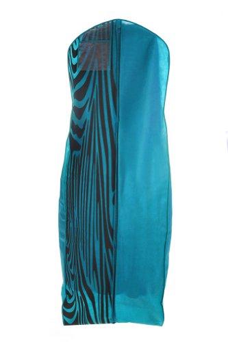 Brand New Turquoise  Zebra Print Breathable Wedding