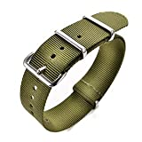 Brand New R.C design Nylon Watch Strap Band Wristbands Military/Divers/Sport 18mm Green with 13 steps & 3 stainless steel buckles