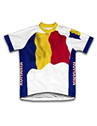 Romania Flag Short Sleeve Cycling Jersey for Women