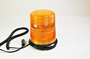 "SafeCo 6.1"" 12V-48V Magnetic Emergency Warning Strobe Light Amber Beacon Truck"