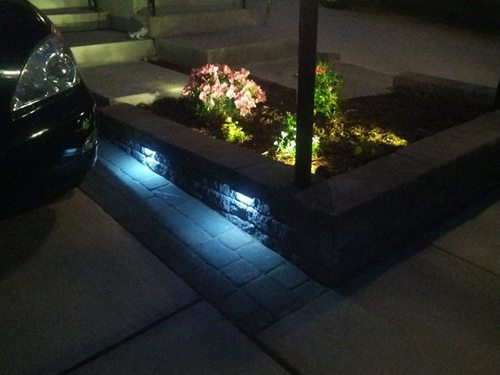 Retaining Wall Lights Low Voltage : Amazon.com : Wall Eye - 12 volt LED Low-Voltage Landscape Light for Retaining Wall & Stair ...