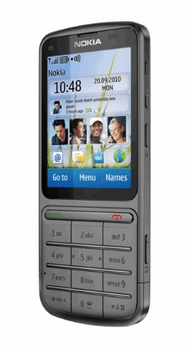 Nokia C3-01 Unlocked Touch and Type GSM Phone–U.S. Version with Warranty (Warm Gray)
