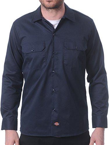 Camicia A Maniche Lunghe Dickies Slim Work Dark Blu Scuro (M , Blu Scuro)