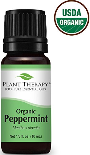 USDA Certified Organic Peppermint Essential Oil. 10 ml. 100% Pure, Undiluted, Therapeutic Grade.