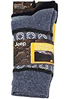 Mens Jeep Thermal Winter Alpine Socks - Pack of 2