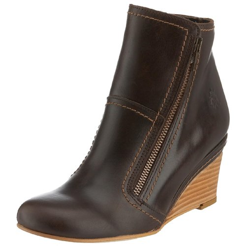 Fly London Women's Lote Ii Wedge Boot Leather Dark Brown P141355004 3 UK