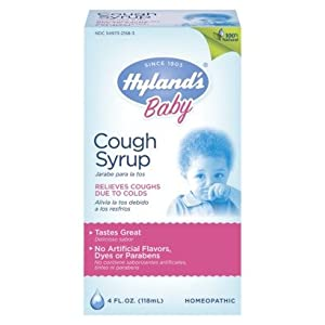 Buy baby cough cold - Hylands Hyland�s Baby Cough Syrup 100% Natural 4 Oz (pack Of 3)