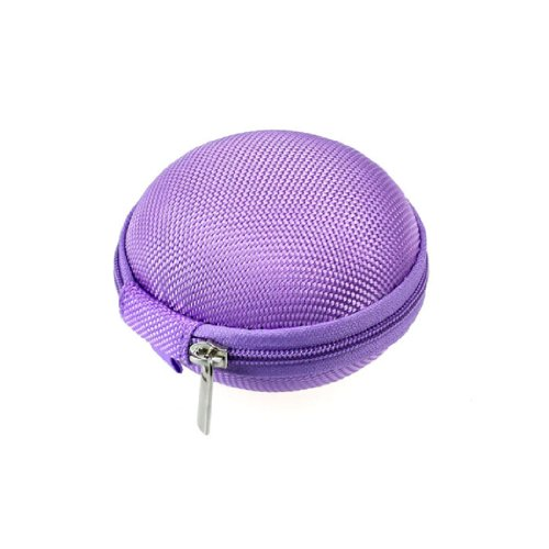 Aokdis Hot Selling Mini Headset Headphone Earphone Collection Bag Box Carrying Pouch (Purple)