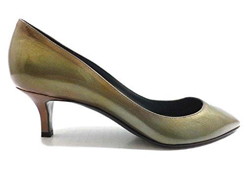 chaussures-femme-sergio-rossi-36-eu-escarpins-vert-marron-cuir-verni-ay602