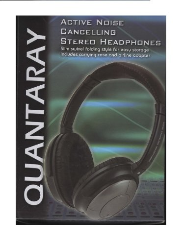 Quantaray - Active Noise Cancelling Stereo Headphones W/Carrying Case