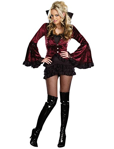 Generic Women's Adult Addams Family Vampire Halloween Fancy Dress