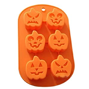 Wholeport Pumpkin Shape Silicone Baking Cake Mold Candle Mold