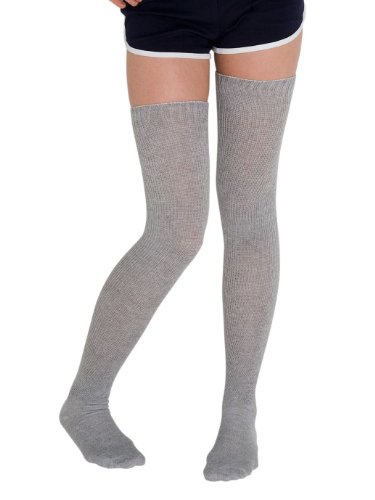 American Apparel Heather Solid Thigh-High Socks