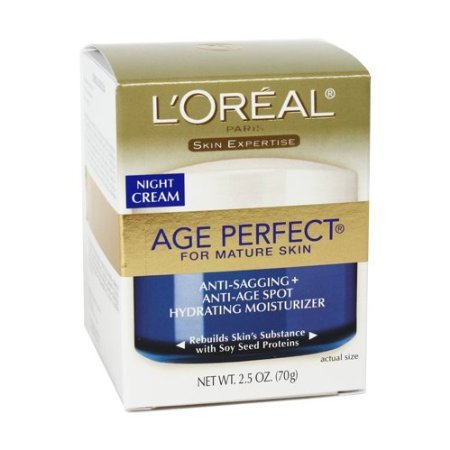 L'Oreal Skin Expertise Night Creme Age Perfect For Mature Skin Anti-Sagging And Anti-Age Spot Hydrating Moisturizer...
