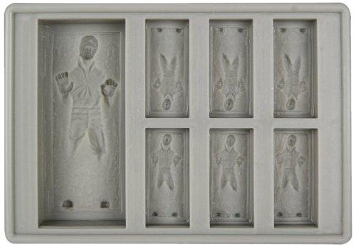 Star Wars 57140 Han Solo - Stampino per cubetti di ghiaccio e da forno, 15 x 11 x 2,7 cm