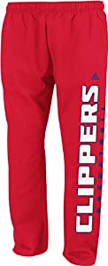Adidas Los Angeles Clippers Red Open Bottom Baze Fleece Sweatpants by adidas