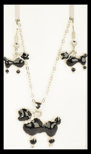 50'S Poodle Jewelry Set (Black)