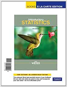 Weiss introductory statistics 9th edition