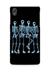 Amez designer printed 3d premium high quality back case cover for Sony Xperia Z2 (Skeleton 2)