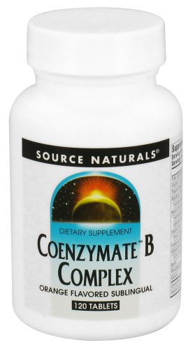 Source Naturals - Coenzymate B Complex Sublingual Orange Flavored - 120 Tablets