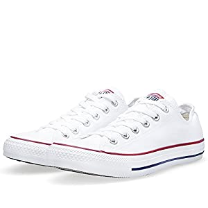 Converse Unisex Chuck Taylor All Star Ox Basketball Shoe (8.5 B(M) US Women / 6.5 D(M) US Men, Optical White)