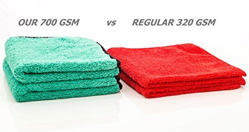 dry rite heavy weight premium plush 14 x 14 microfiber cloth ultra thick 700 gsm polishing. Black Bedroom Furniture Sets. Home Design Ideas