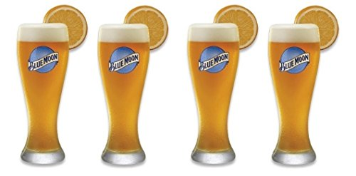 Set of 4 Blue Moon Pilsner Beer Glass (Heavy Duty Beer Glasses compare prices)